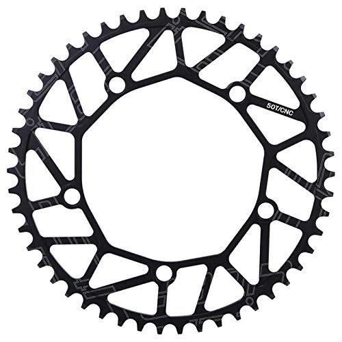 Fahrradkettenrad, 50/52/54/56/58T 130BCD Fahrrad Single Speed Kettenblatt für die meisten Fahrrad Rennrad Mountainbike(58T)
