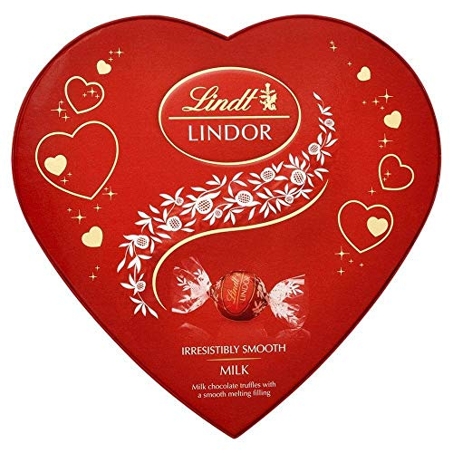 Lindt Lindor Collection - Heart Shape Box Chocolates perfect for Lovers, Couples and Mother's Day (160g Heart Box)