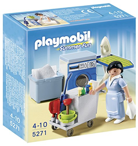 PLAYMOBIL Hotel -  Servicio de Limpieza, Set de Juego , 15 x
