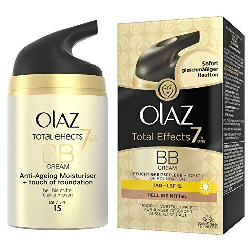 Olaz Total Effects BB Cream Touch of Foundation, pomp, per stuk verpakt (1 x 50 ml) Voor een lichtere huid.