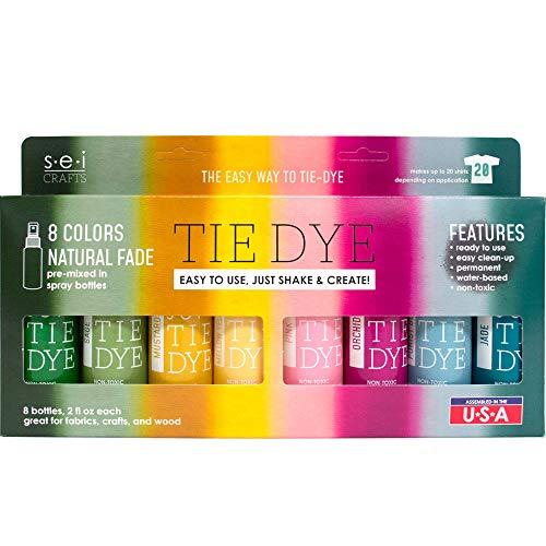 S.E.I. Natural Fade Tie Dye Kit, Fabric Spray Dye, 8 Colors
