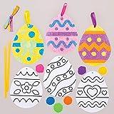 Baker Ross Kits Huevos de Pascua Sand Art Set para niños (paquete de 6)