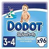 Dodot Splashers Talla 3, 96 Pañales bañadores desechables, 6-11 kg, no se hinchan y fácil de quitar