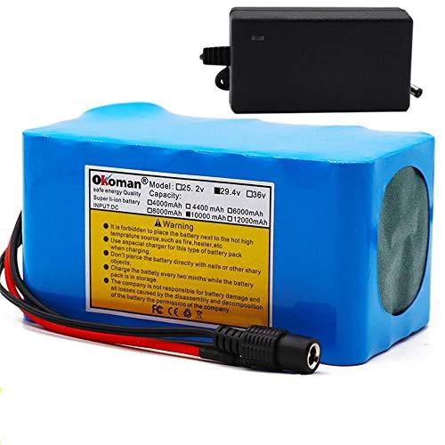 Batteria agli ioni di Litio per Bicicletta elettrica 24V 10ah 10000mAh 18650 Batteria per Sedia a rotelle Motore BMS + Caricatore 29,4V