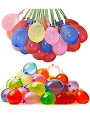 مجموعة بالونات يمكن ملؤها بالماء او الهواء مصنوعة من اللاتكس تصلح كزينة للحفلات، 111 قطعة