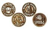 Set of 4 The Mandalorian Wood Coasters - Star...