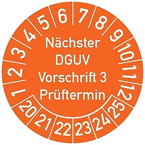 Prüfplaketten Geprüft nach DGUV V3 Nächster Prüftermin VIOLETT MATT Permanent