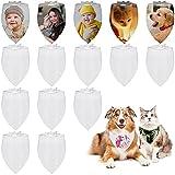 18 Piezas Pañuelos de Perro Blanco Liso Bufanda de Triangular de Mascotas en...