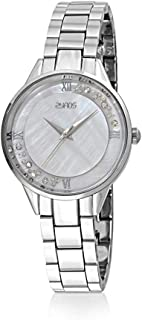 Zyros Watch for Women, Analog, Metal Band, Silver, ZY144L111129