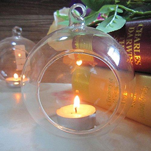 CXZX Portavelas de Vidrio, candelabros de columnas, portavelas Tealight de Vidrio para Vacaciones Especiales