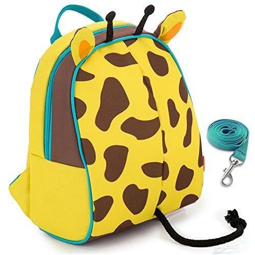 YONOVO Kinder Rucksack Kindergartenrucksack für Jungen Mädchen (Giraffen-Gelb)