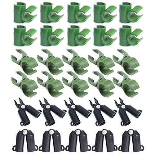 jeerbly Pflanzen-Verbinder-Clip, Verbindungsgelenk, Klettergerüst, Set, PP, 30 Stück, Kunststoff, A-Typ, Gewächshaus-Halterung