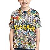 VOSGA Kids' 3D T-Shirt Boys Casual Short-Sleeved Tee