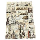 Miner 30Pcs Set Bookmarks Escenas Europeas Vintage France Paris Torre Eiffel Print Bookmark, 30pcs, Unidos