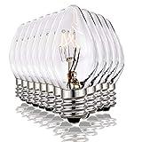 (12 Pack) Salt Rock Lamp Bulb, 15 Watt Light Bulbs for Himalayan Salt Lamps & Baskets, Chandeliers, Night Lights, E12 Base Incandescent Bulbs, 15 Watt Replacemen Light Bulbs, Dimmable Warm White - C7