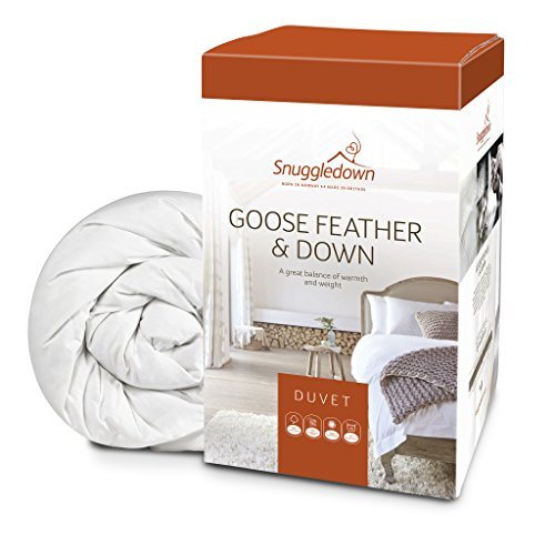 Snuggledown Goose Feather & Down Duvet, All Seasons 13.5 Tog (4.5+9.0), Double