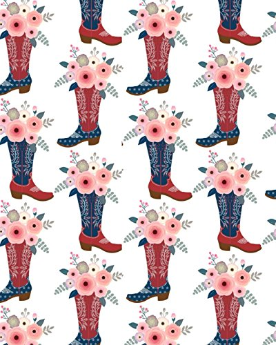 Horse Notebook: College Ruled - Lined Journal - Composition Notebook - Soft Cover Writer's Notebook or Journal for School  - College or Work - Red White and Blue Boots with Flowers