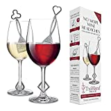 PureWine Wand Purifier Removes Histamines and Sulfites - Reduces Wine Allergies & Eliminates Headaches, Aerates Restoring Taste & Purity - Twist Off Wine Glass Charm Accessory Each Wand - Pack of 2