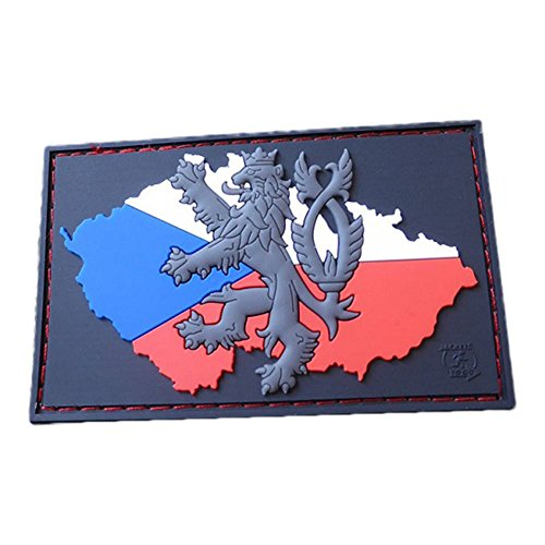 JTG 3D Patch CZ Flagge mit Löwe fullcolor
