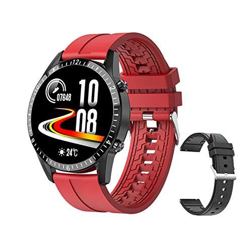 DKM Pantalla Táctil Watch Smart Watch Bluetooth Manos Libres Smartwatch Hombres Y Fitness Fitness Tracker Tarifa Cardíaca Información De Llamadas Música Banda,C