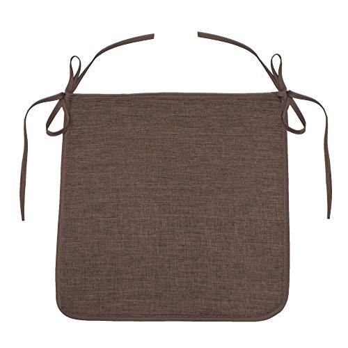 DOUCEUR D'interno 35 mm Chambray Uni Newton in schiuma per sedia, colore: marrone cioccolato