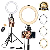 8' Ring Light with Tripod Stand - Dimmable Selfie Ring Light LED Camera...