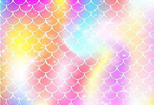 Fondo de fotografía Colorido Nube Belleza Cielo recién Nacido Ducha cumpleaños Fiesta Rosa decoración Foto Estudio telón de Fondo A6 10x7ft / 3x2,2 m