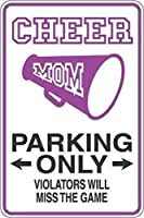 チアママ駐車場のみ装飾新しいノベルティアートサインおかしいアルミニウム金属錫サイン