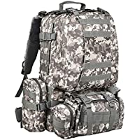 Cvlife Military Tactical Backpack with Army Rucksack Assault Pack Built-up Molle Bag