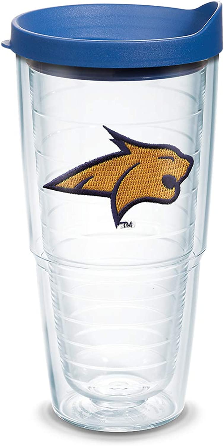 Tervis 1130721 Montana State University Emblem Individual Tumbler with blueee lid, 24 oz, Clear