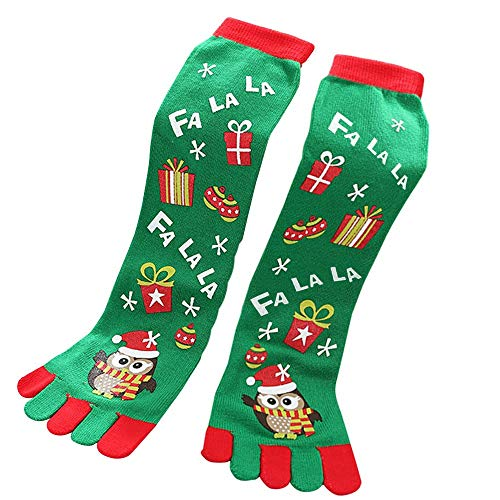 HOT SALE!Somerl Socken Strümpfe Zehensocken Xmas Casual Socks Cute Unisex Long Socks(C,Free)