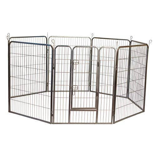 """Iconic Pet Heavy Duty Metal Tube Playpen for Dog Exercise and Training, 48"""""""