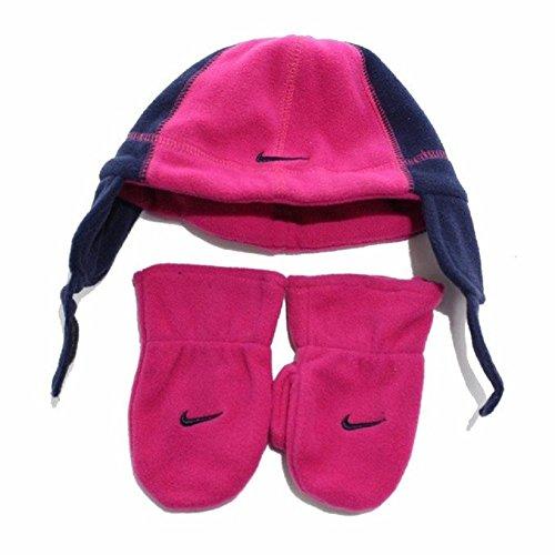 Nike Baby Mädchen Handschuh Mütze Winter Set Pink Rot Blau