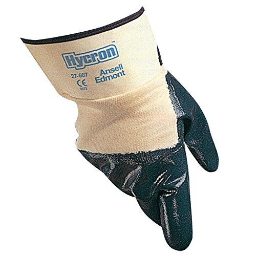 Ansell Edmont 27-607 Hycron Handschuh mit beschichteter Handfläche und Sicherheitsschlauch Größe 8