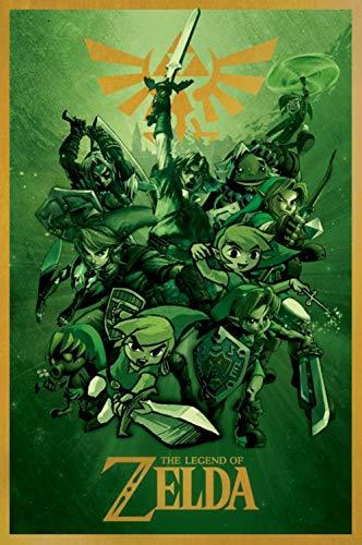 Pôster The Legend of Zelda Breath of The Wild 2014 28 x 43 cm Reimpressão