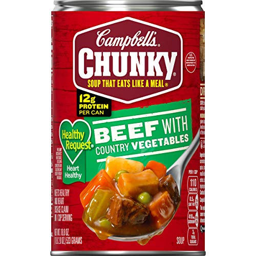 Campbell's Chunky Healthy Request Beef with Country Vegetables Soup, 18.8 oz. Can