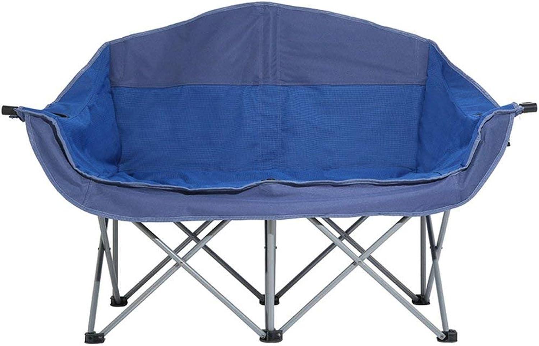 AA-SS-Folding chair Klappstuhl Double Heavy Duty Mit Getrnkehalter Aufbewahrungstasche Outdoor Beach Lounge, Fassungsvermgen 150kg