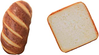 MonkeyJack Set of 2, Creative Toast Bread Cushions for Cats and Small Dogs Pets Mat Sleep Soft Mattress Pad Kittens Special Bed, with Plush Bread Shape Pillow