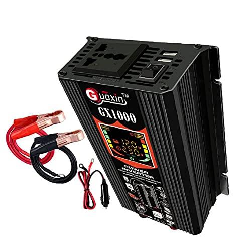 500W de potencia del inversor 12V DC para adaptador de enchufe de CA del inversor 220V coche de onda sinusoidal pura del convertidor de energía, Inversor