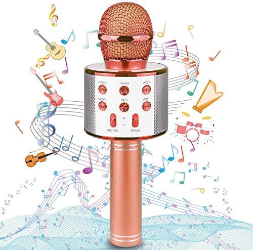 Uplayteck Micrófono Karaoke Bluetooth, Microfono Inalámbrico Karaoke Portátil con Función Selfie para Niños Canta Partido Musica,...