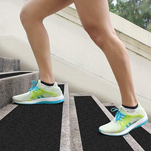 DanceWhale 15cm x 60cm rutschfest Stufenmatten 10er Pack Antirutschstreifen Treppe Set Anti Rutsch Selbstklebende Streifen Rutschschutz Treppenstufen Matten für Treppen Außen und Innen
