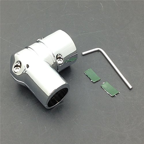 XKH Group Motorcycle Harley Electra Glide Standard FLHT DRAG SPECIALTIES CHROME FUEL LINE FITTING COVER new Drag Specialties Chrome Motor