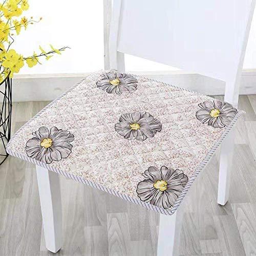 2 PCS Cojín de asiento acolchado para silla de cocina, silla de comedor antideslizante Cojines de banco de bancos Heces de banco de alimentos Decoración para el hogar interior Padras de asiento cuadra