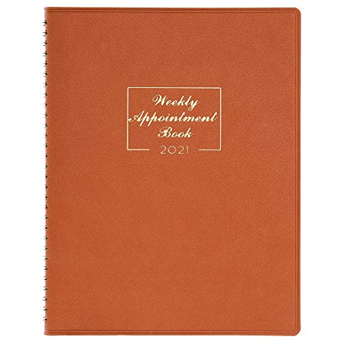 "2021 Weekly Appointment Book & Planner - 2021 Daily Hourly Planner 8.4"" x 10.6"", Jan. 2021 - Dec. 2021, 15-Minute Interval, Flexible Soft Cover, Twin-Wire Binding, Perfect for Your Life"