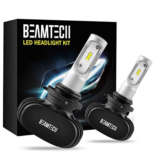 BEAMTECH 9006 LED Headlight Bulb, 50W 6500K 8000Lumens Extremely Brigh HB4 CSP Chips Conversion Kit