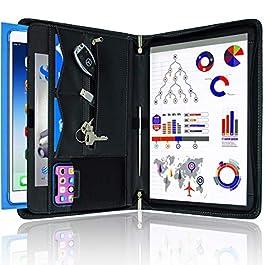STYLIO Zippered Padfolio Portfolio Binder, Interview Resume Document Organizer. Binder Organizer For iPad/Tablet (up to…