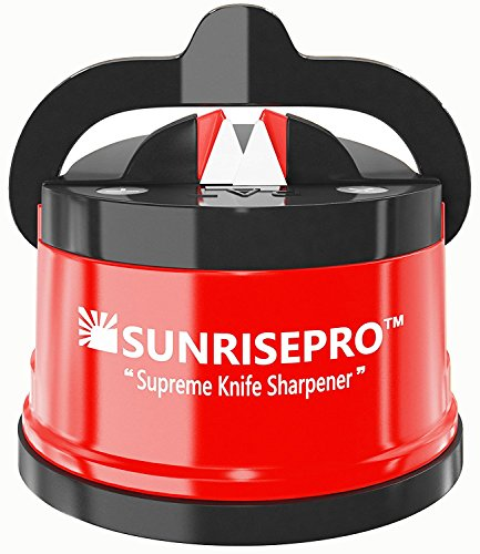 SunrisePro Supreme Knife Sharpener for all Blade Types, Razor Sharp Precision & Perfect Calibration, Easy & Safe to Use, Ideal for Kitchen, Workshop, Craft Rooms, Camping & Hiking