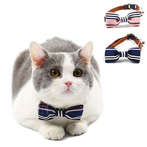 iikuru 猫 首輪 猫用 首輪 おしゃれ 鈴 ねこ 子猫 首輪 ペット 犬用 首輪 ペット用 犬 首輪 リボン かわいい 青 ピンク x704
