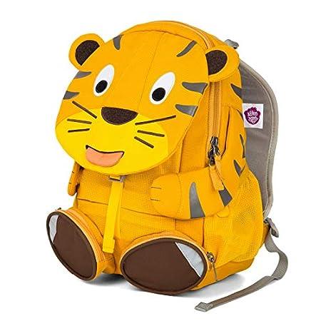 Affenzahn Großer Freund - Kinderrucksack für 3-5 Jährige im Kindergarten - Tiger - Gelb