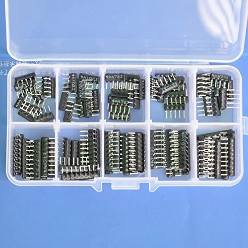 Electronics-Salon Thick Film Network Resistor Assortment Kit, Array Resistor, Bussed Type, 1/8W, SIP-5 and SIP-9 470 1K 4.7K 10K 47K ohm.